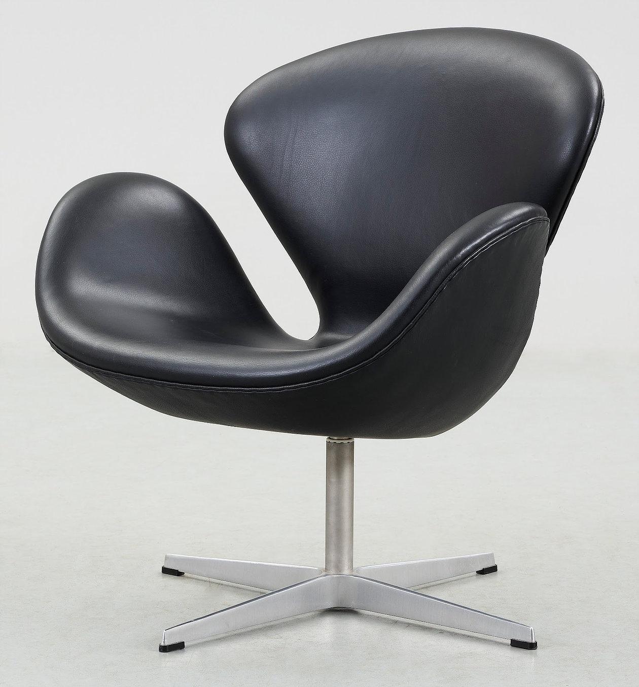 Arne Jacobsen, Swan, od 500 do 2000 EUR vir: rarelag.nokly.com