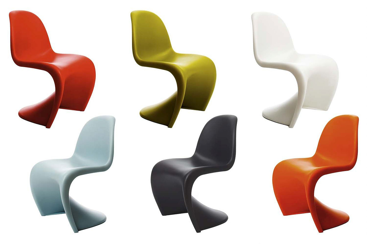 Verner Panton, Panton chair, od 150 EUR vir: www.archiexpo.com